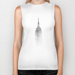 Wistful monochrome Empire State Building Biker Tank