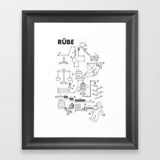 Rube Framed Art Print
