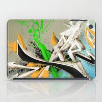 grafitti iPad Cases featuring Extra grafitti 3d abstract design by sleepwalkerMTS