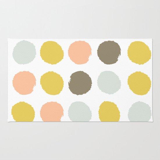 Gender Neutral Painted Dots Trendy Color Palette Nursery