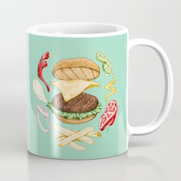 Burger Mandala Coffee Mug