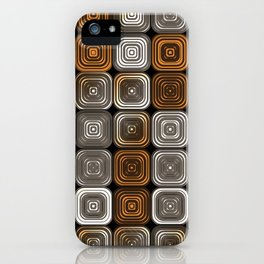 Geometric chocolate pattern iPhone Case