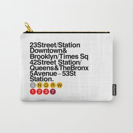 New York Helvetica Carry-All Pouch