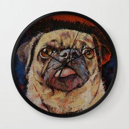 Pug Portrait Wall Clock