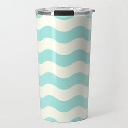 Design lines blue white Travel Mug