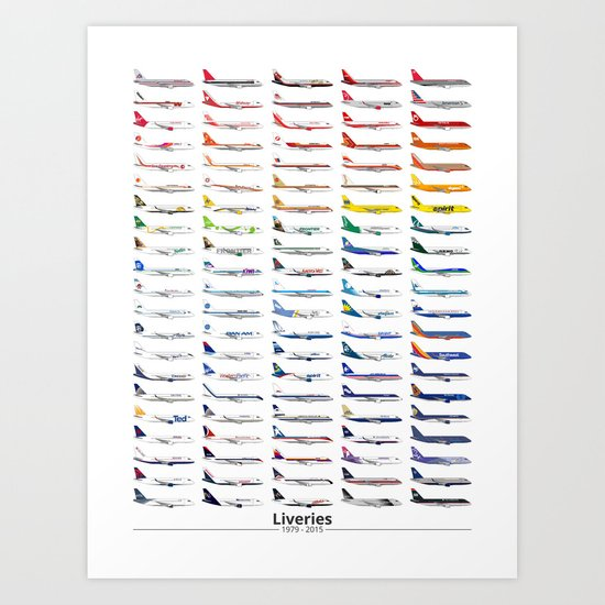 Liveries (by color) Art Print