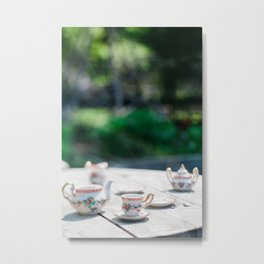 Tea at High Noon Metal Print