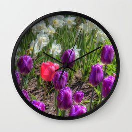 Dash of Pink - Tulip Wall Clock