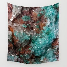 Dark Rust & Teal Quartz Wall Tapestry