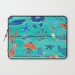 Blue & Orange Under the Sea Laptop Sleeve
