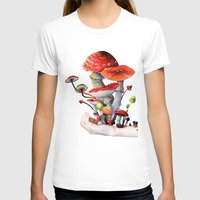mushrooms T-shirts featuring Mushrooms by Belle Kim