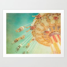 Around We Go Art Print