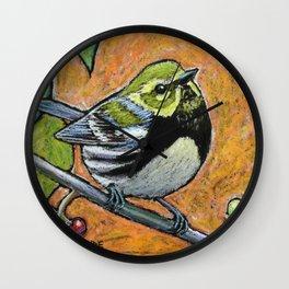 Black Throated Green Warbler Wall Clock
