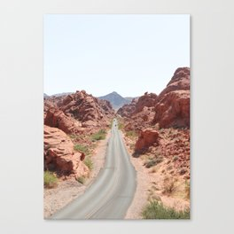 Roads Of Nevada Desert Picture   Valley Of Fire State Park Art Print   USA Travel Photography Canvas Print