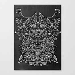 Viking Warrior, Viking Mask Canvas Print