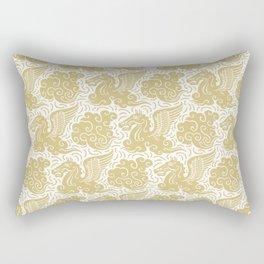 Pegasus Pattern Gold Rectangular Pillow