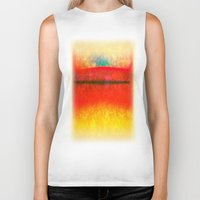 rothko Biker Tanks featuring After Rothko 8 by Gary Grayson