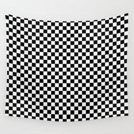 schwarz weiß kariert Wall Tapestry