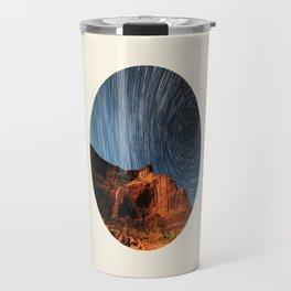 Long Exposure Of Spinning Stars Travel Mug
