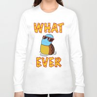puppycat Long Sleeve T-shirts featuring Whatever by ohzemesmo