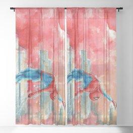 VERSE#1: Dawn in NY Sheer Curtain