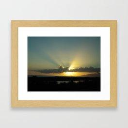 WEST MAUI SUNSET Framed Art Print