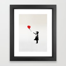 Banksy Girl with Ballooon reproduction Framed Art Print