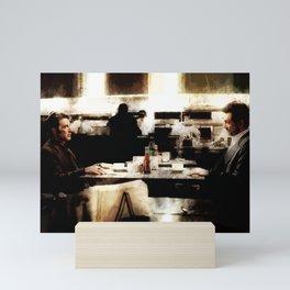 Heat Coffee Shop Iconic Scene Mini Art Print