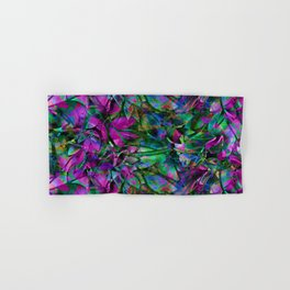 Floral Abstract Stained Glass G276 Hand & Bath Towel
