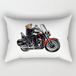 Wolf on the motorcycle Rectangular Pillow