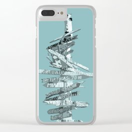 Graphic Art SIGNPOST   turquoise Clear iPhone Case