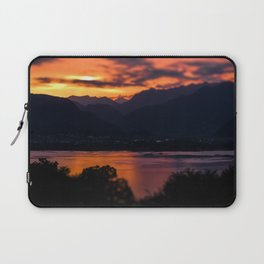 Locarno and Ascona at sunset Laptop Sleeve