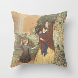 John Simmons - Better times ahead (1854) Throw Pillow