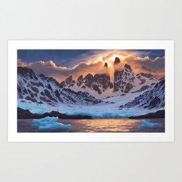 Arctic Pass Art Print