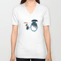 anna V-neck T-shirts featuring The Perfect Neighbor by Anna-Maria Jung