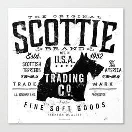 Scottie Trading company Scottish Terrier Dog soft goods vintage style graphic Canvas Print