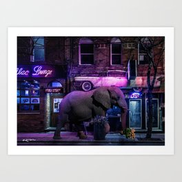buying late night apologies Art Print