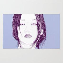 Sexy Asian Girl Portrait Rug