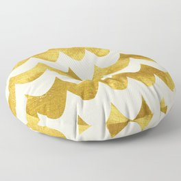 Cream Gold Foil 04 Floor Pillow