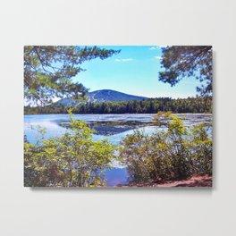 Shawnee Peak from Moose Pond in Maine (4) Metal Print