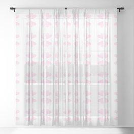 pink hearts 2 Sheer Curtain