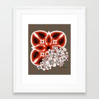 mid century Framed Art Prints featuring Mid Century Hawaiian by Vikki Salmela