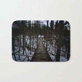 Suspension Bridge Along The Waldskulpturenweg Bath Mat