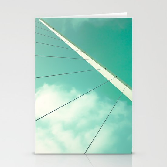 Look Up (Retro and Vintage Urban, architecture photography) Stationery Cards