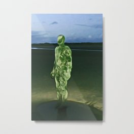 Last Iron Man on the Beach (Digital Art) Metal Print