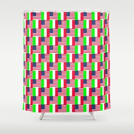 Mix of flag : Usa and Italy Shower Curtain