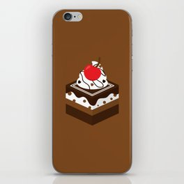 Brown Chocolate Cake iPhone Skin