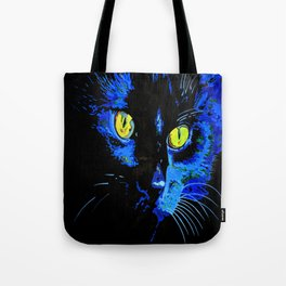 Marley The Cat Portrait With Striking Yellow Eyes Tote Bag