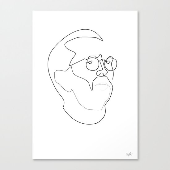 One line Eric Clapton Canvas Print