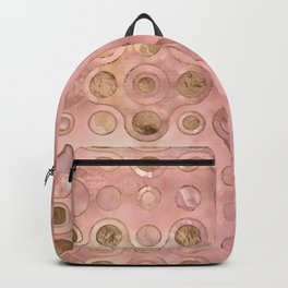 Geometric Pattern - Onyx and Golden Texture Backpack